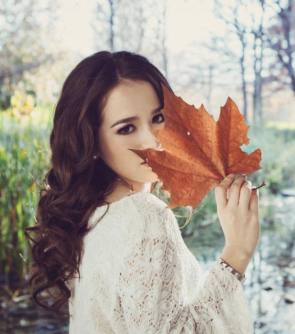 woman-leaf